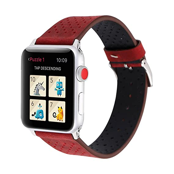 4532cff7d Image Unavailable. Image not available for. Color: 2019 Best Gift for  Father!!! Reverent Leather Strap Replacement Watch Band for Apple