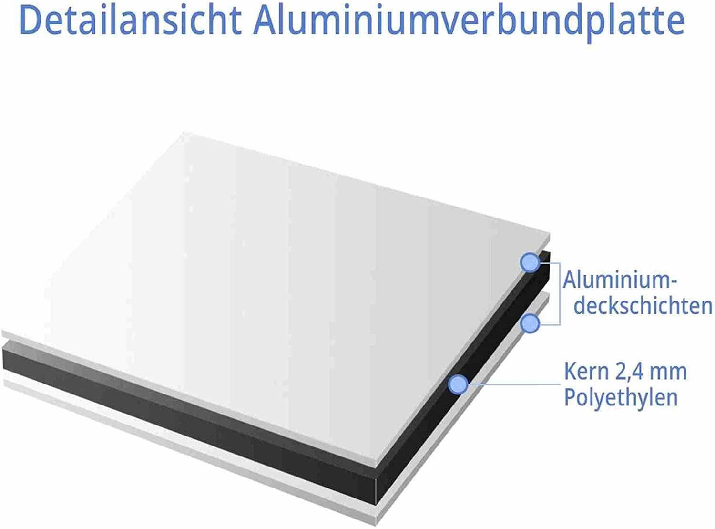 mit Einschlagpfosten 0,75 Meter 75cm Kleberio/® Parkplatz Schild 52 x 11 cm Parken verboten! und Montagematerial stabile Aluminiumverbundplatte