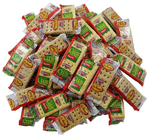 Keebler Crackers Variety Pack, 50 Count (25 Each Individual 2 Count packets of Club and Wheat Flavor)