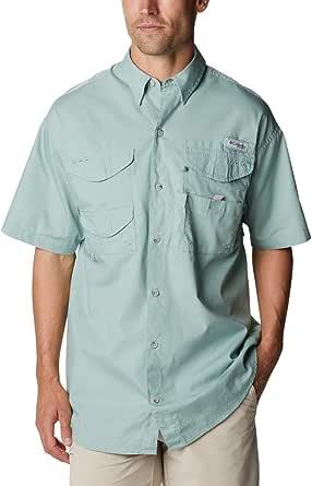 Columbia PFG Mens Large Vented Short Sleeve Blue Shirt UPF 40 675