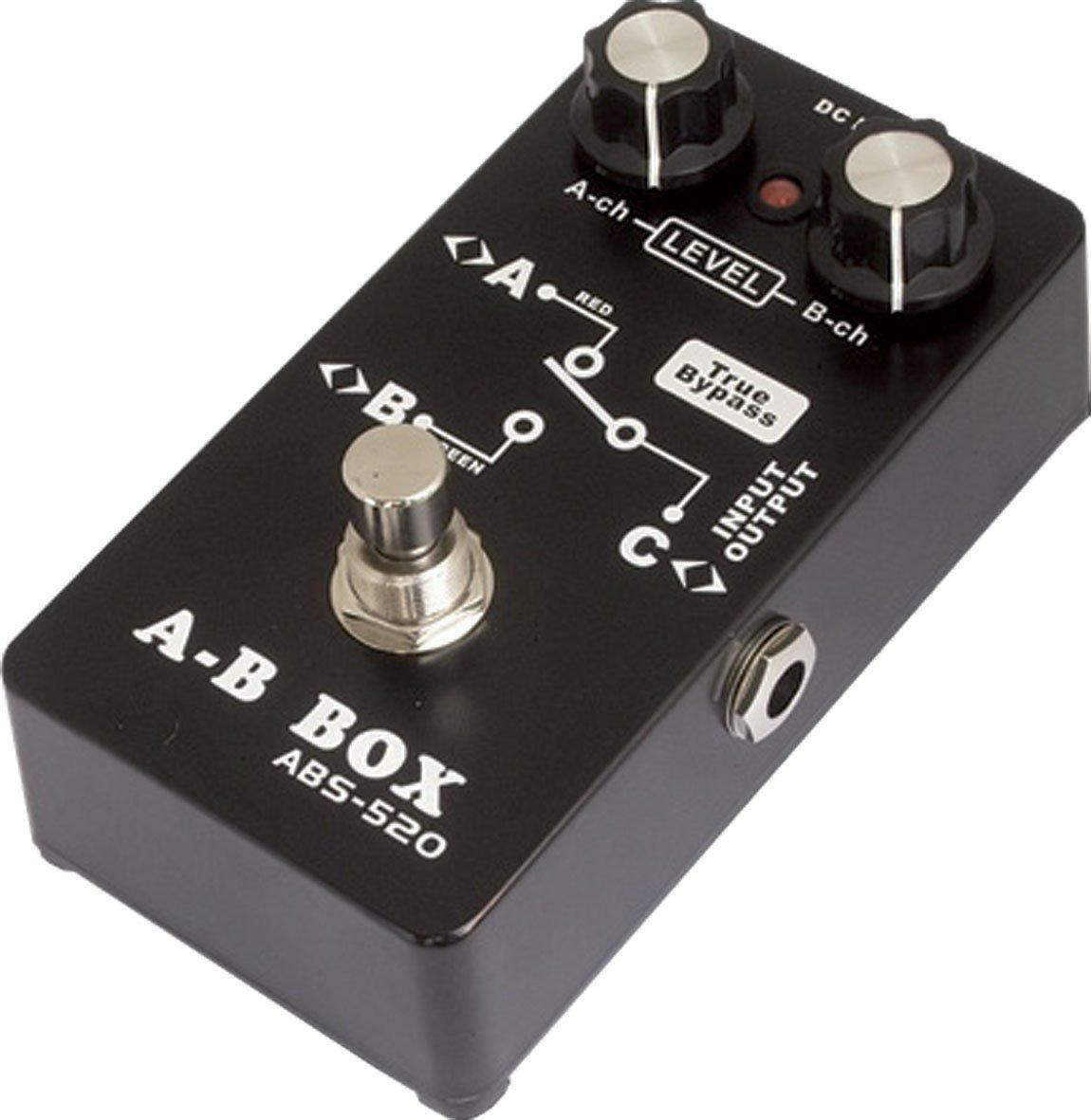 Belcat ABS-520 pedal del amplificador A/B de la guitarra Negro