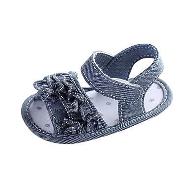 22139fc2a09fa6 Babyschuhe Offene Sandalen mit Klettverschluss Baby Jungen Mädchen Kleinkind  Schuhe Sommer Mode Freizeit Anti-Rutsch