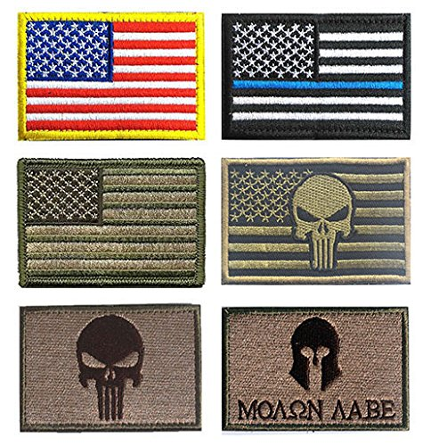 US Flag Velcro Patch, TOWEE 6 Pack American Flag USA Flags P