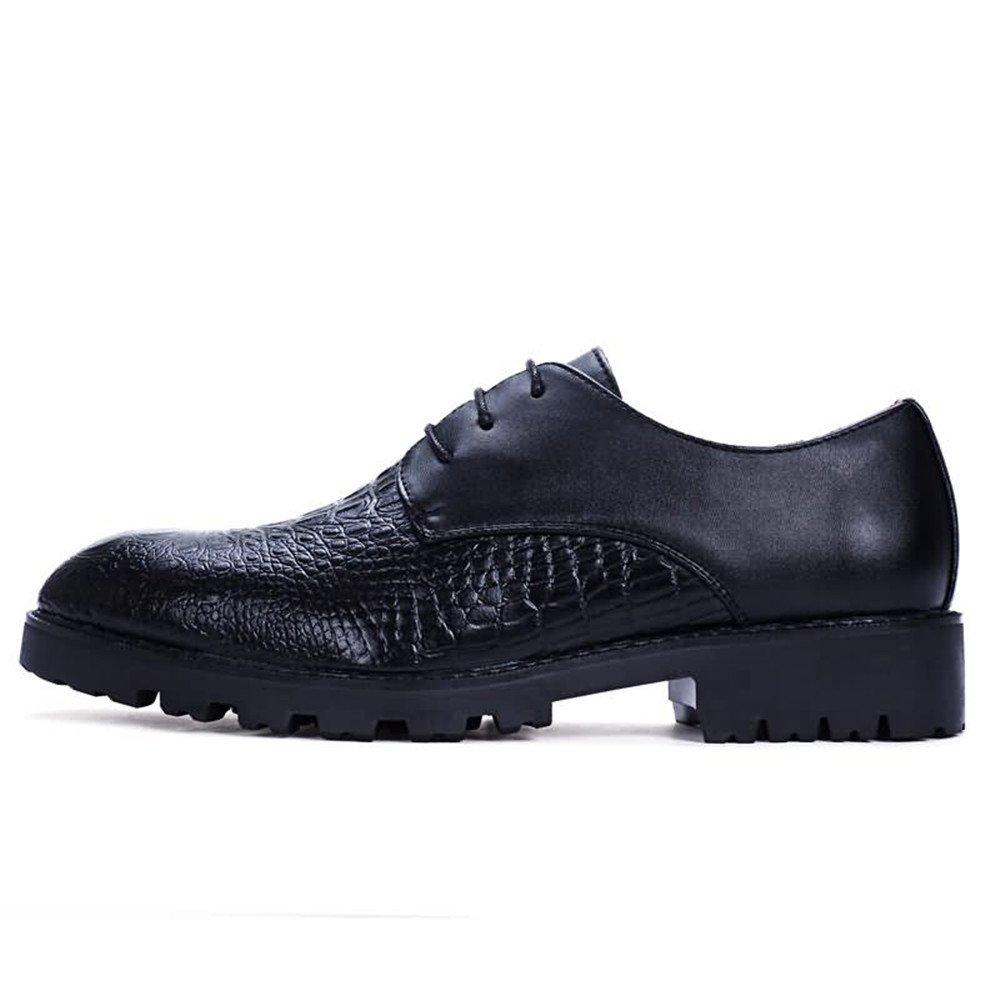 Für die neue Mode 2018 Herren Oxfords Flache Ferse Soft Party PU Leder Schnürschuhe Business Party Soft Schuhe Schwarz dbb11b