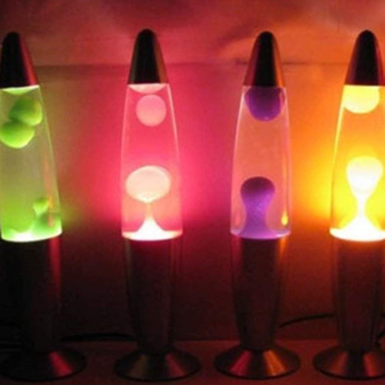 Orange Niedliche Metallbasis Lava Lampe Wachs Vulkan Stil Nachtlicht Qualle Nachtlicht Blendung Gl/ühlampe Lava Beleuchtung Lampen DEjasnyfall