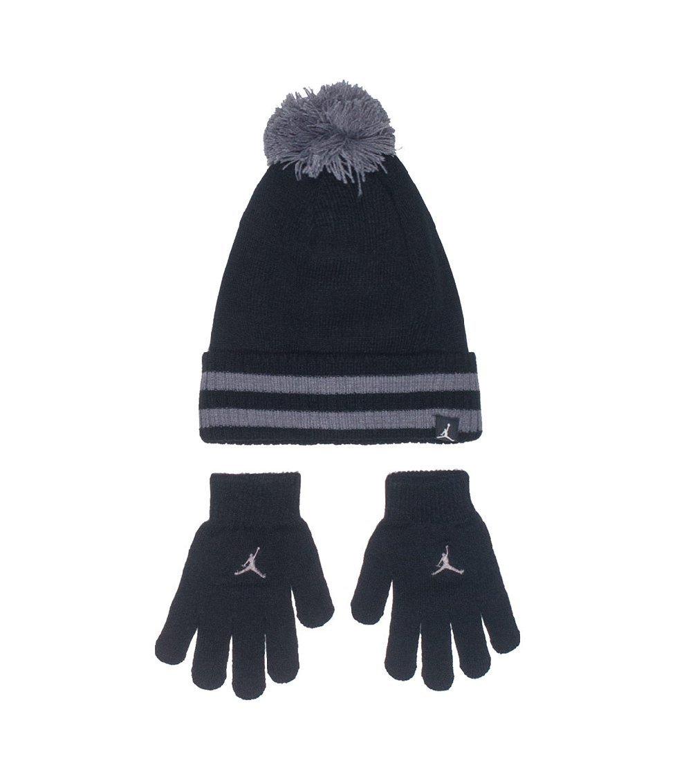 Jordan Cuffed Pom Hat And Gloves 2 Piece Set Boy's 4/7
