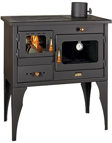 Estufa de leña, chimenea, horno, hecha de hierro fundido, para