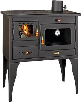 Estufa de leña, chimenea, horno, hecha de hierro fundido, para ...