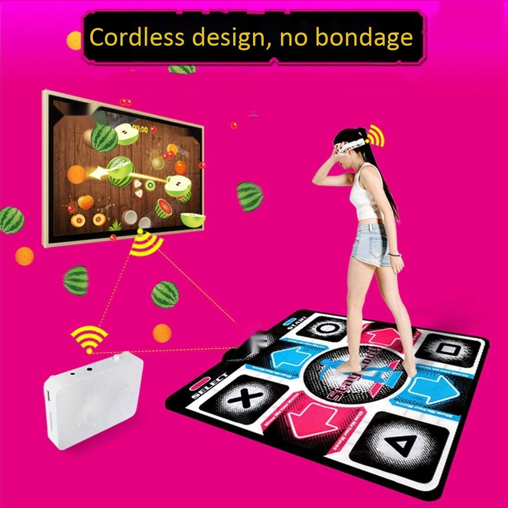 RYSD-MT Single Dance Mat Cordless LED Glow Play Mat Foldable Non-Slip TV Computer Dual-use Somatosensory Dance Mats for Adults Children(English Version) by RYSD-MT (Image #5)