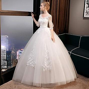WFL La Novia del Vestido de Boda se casó Delgada Delgada Delgada de Gran tamaño Qi