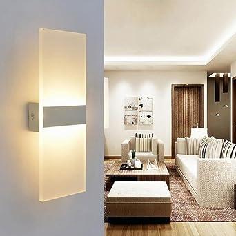 LED Wandleuchte Acryl Wandlampe Warmweiß Modern Design Nachttischlampe Home  Corner Dekorative Beleuchtung Ideal Für Schlafzimmer Wohnzimmer