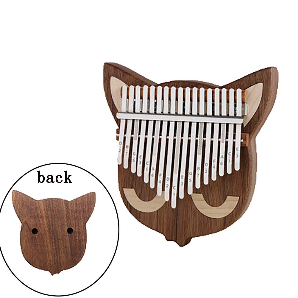 Yajun Thumb Pianos Kalimba 17 Keys Portable Marimbas Lightweight Walnut Wood Music Instrument for Child Beginner Gift,A,Sound-Hole by Yajun