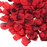 "Supla 3000 Pcs Dark Red Silk Rose Petals 2"" to 2 1/4"" Wedding Party Decoration"