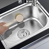 Amazer Dish Brush Kitchen Scrub Brushes with Sturdy Offset Handle Anti-melting Bristles for Dishes Cleaning- Set of 2