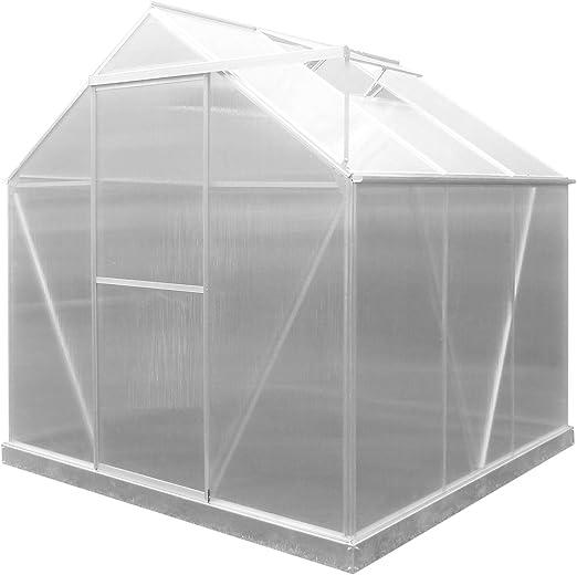 GARDIUN KIS19003 - Invernadero Lunada Policarbonato/Aluminio 3 Módulos 3, 63 m² 188x193x190 cm con base: Amazon.es: Jardín