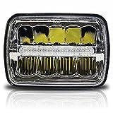 7 headlight bulb - 7x6 LED Headlights HID Light Bulbs Crystal Clear Sealed Beam Headlamp w/DRL 7
