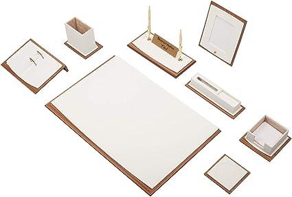Master 12 tlg Schreibunterlage Set mit Dokumentablage /& Namensschild in 2 Farben