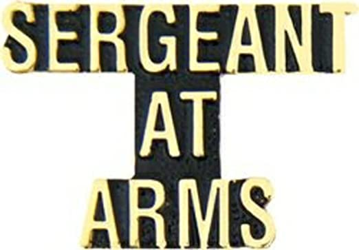 Sergeant At Arms Script Hat or Lapel Pin H14208D90