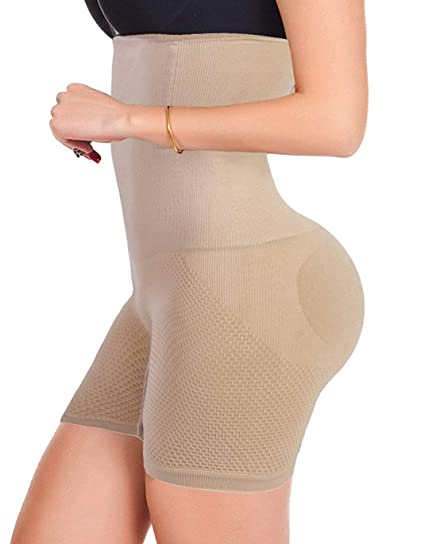1cf4fbe081 Image Unavailable. Image not available for. Color  FUT Forever Womens  Shapewear Tummy Control Shorts High-Waist Panty Mid-Thigh Body Shaper  Bodysuit