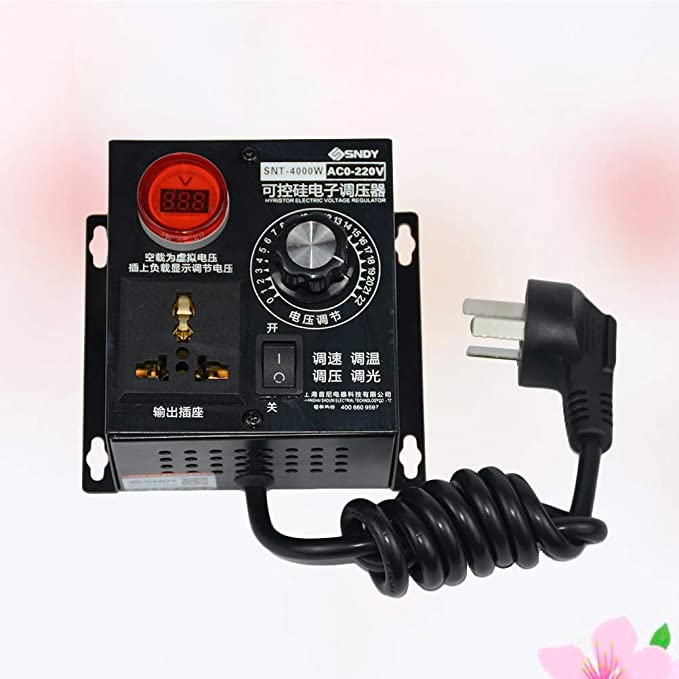 LIOOBO 220V 4KW Motor de CA Regulador Regulador de Velocidad del ...
