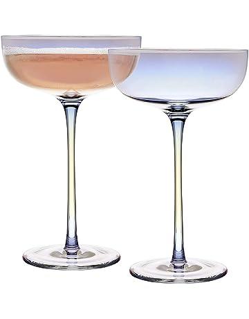 Katie Jayne - Juego de 2 platillos de champán (cristal)