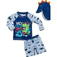CHP Baby Toddler Boys Swimsuit Two Piece Bathing Set Swimwear Suit Rash Guards Shirts UPF 50+