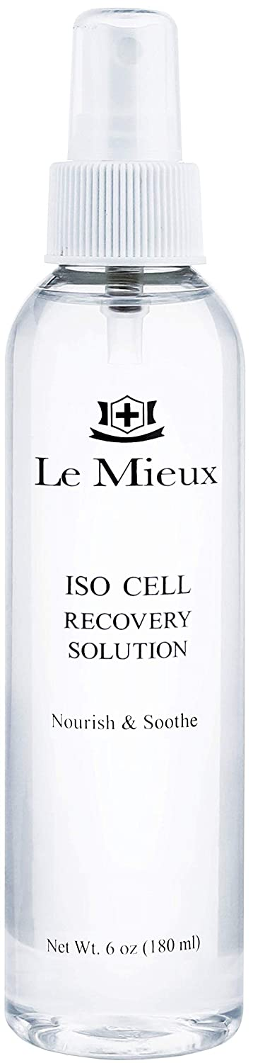 Le Mieux Iso-Cell Recovery Solution Facial Toner - Soothing Amino Acid & Mineral Mist to Help Calm & Hydrate Post-Treatment Skin, No Parabens or Sulfates (6 oz / 180 ml)