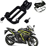 Yashinika Pack of 1 Black Security Helmet Lock for Honda All Bike Models