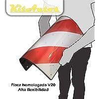 KITAUTOS PLACA V20 señal carga saliente portabicicletas ABS