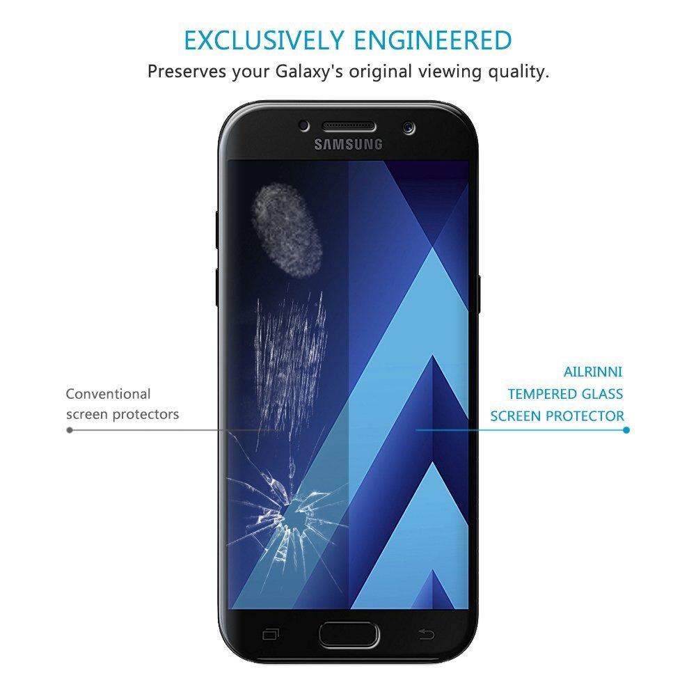 Verre Trempé Samsung Galaxy A5 2017  Couverture Complète , AILRINNI Film  Protection en Verre Trempé Protection écran, anti-rayure Résistant Screen  Protector ... 16242b99f33f