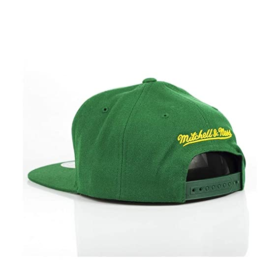 f0c7726afa6 Mitchell   Ness Seattle Supersonics Vice Script 359VZ HWC Logo Snapback Cap   Amazon.co.uk  Clothing