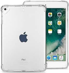For Apple iPad (9.7-inch, 2018/2017 Model), iPad Air 1, iPad Air 2, iPad Pro 9.7-Inch Case Clear Bumper Anti-shock with round corners