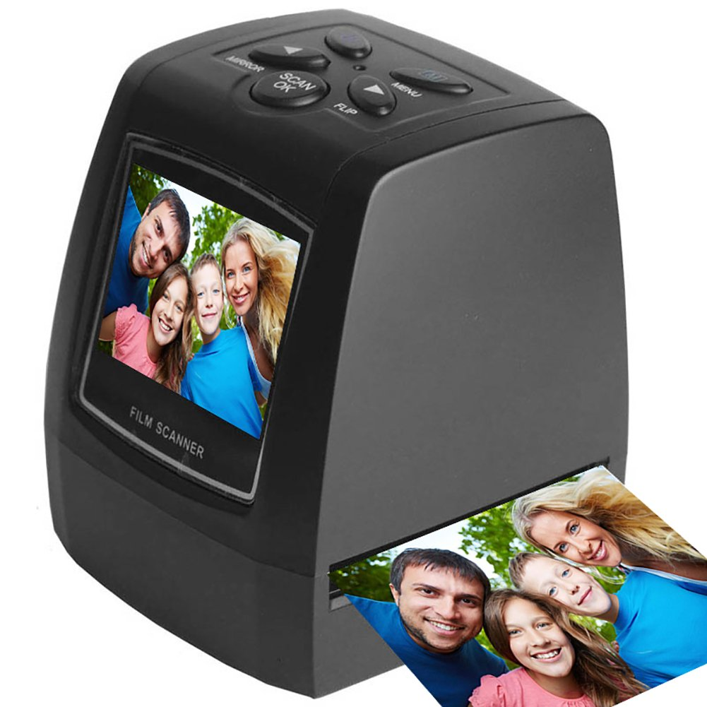 22MP Negative Film Slide Scanner High Resolution Viewer, Converts 35mm Film Negatives & Slides to Digital Photos, 2.36 inch TFT LCD Screen, Support SD Card, Updated Easy-Load Film Inserts by ArmaGedon