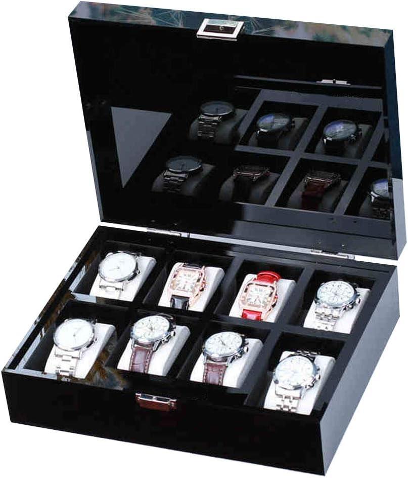 LIYANSBH - Cajas para relojes 8 Ranuras de acrílico Caja de Reloj ...