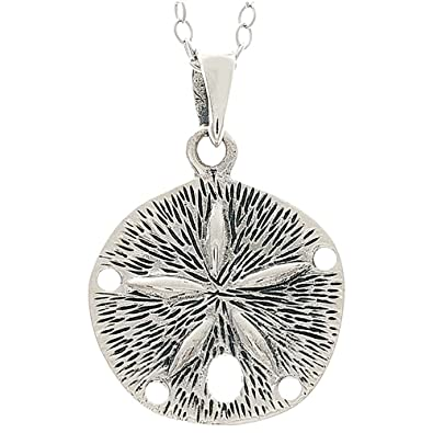 Amazon finejewelers sterling silver sand dollar pendant finejewelers sterling silver sand dollar pendant necklace aloadofball Images