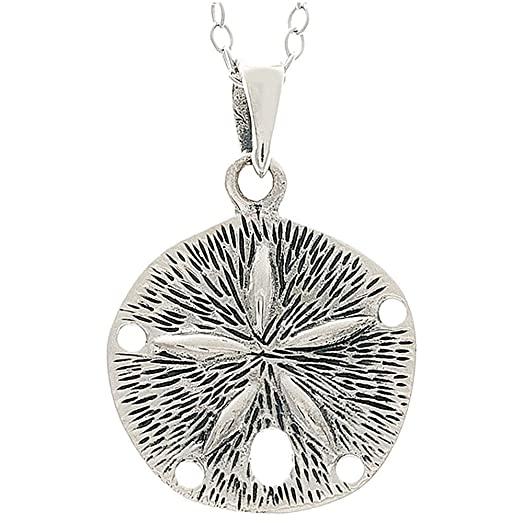 Amazon sterling silver sand dollar pendant necklace jewelry sterling silver sand dollar pendant necklace aloadofball Images