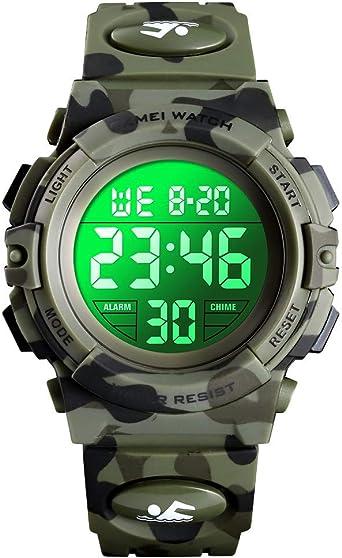 Reloj para niños, Enjoyfeel Relojes Digitales de Camuflaje ...
