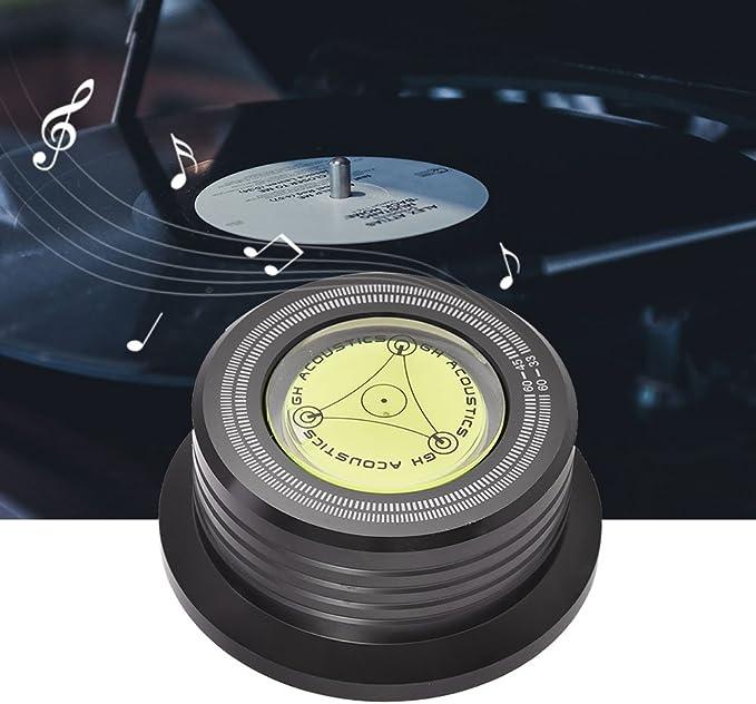 Oro VBESTLIFE 50Hz Giradischi Disco da Registrazione per stabilizzatore di Peso con livella a Bolla per LP Vinyl Record Player