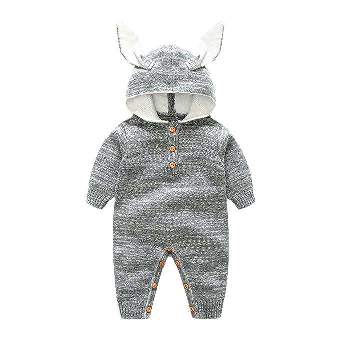 GWELL - Pelele - para bebé niña Conejo Medium