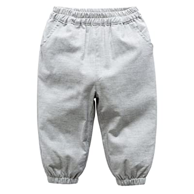 ESHOO 2018 Spring Summer Casual Jogger Pants Cotton Trousers For Kids Baby Boys