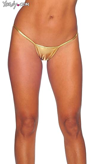 d9bc37dbbb66 BODYZONE Women's Foil Tiny Low Back Tee, Gold, One Size at Amazon Women's  Clothing store: Adult Exotic Thong Underwear