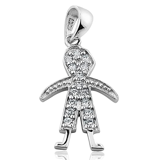 gold solid baby pendant little charm boy
