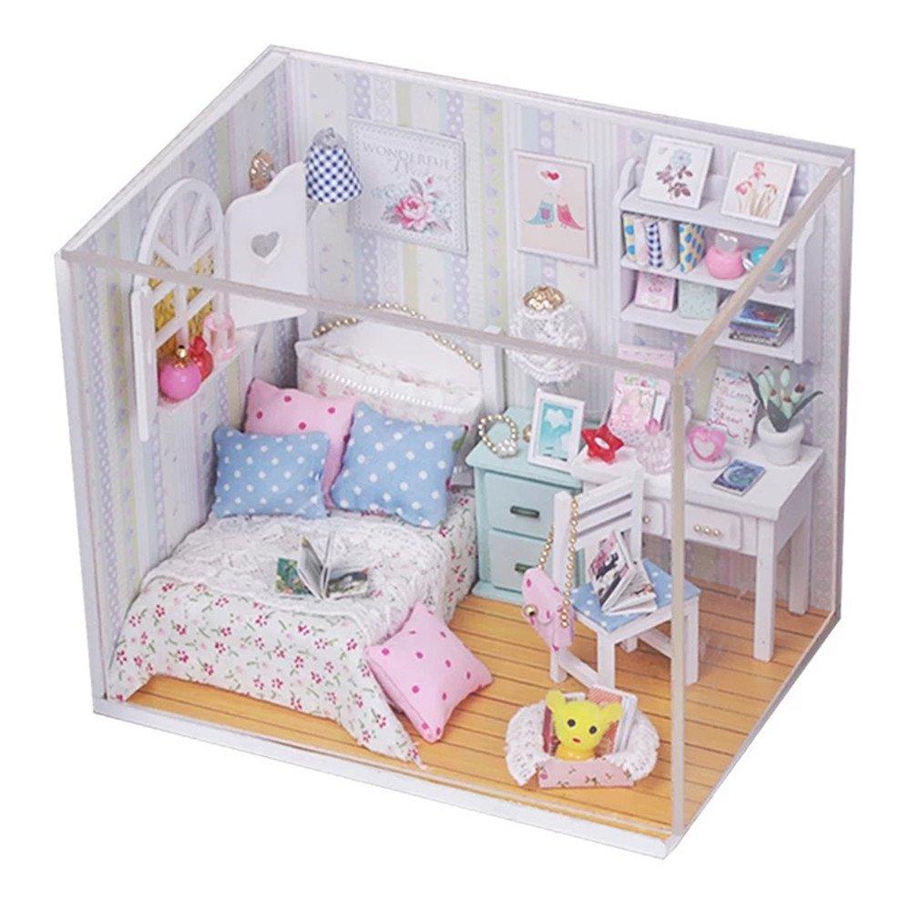 flever casa de muñecas en miniatura de casa DIY Creative sala de estar con muebles y, diseño de romántico arte regalo (Rise and Shine)