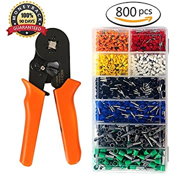 Ferrule Crimper, Ernovo Crimping Plier Wire Terminal and Connection ...
