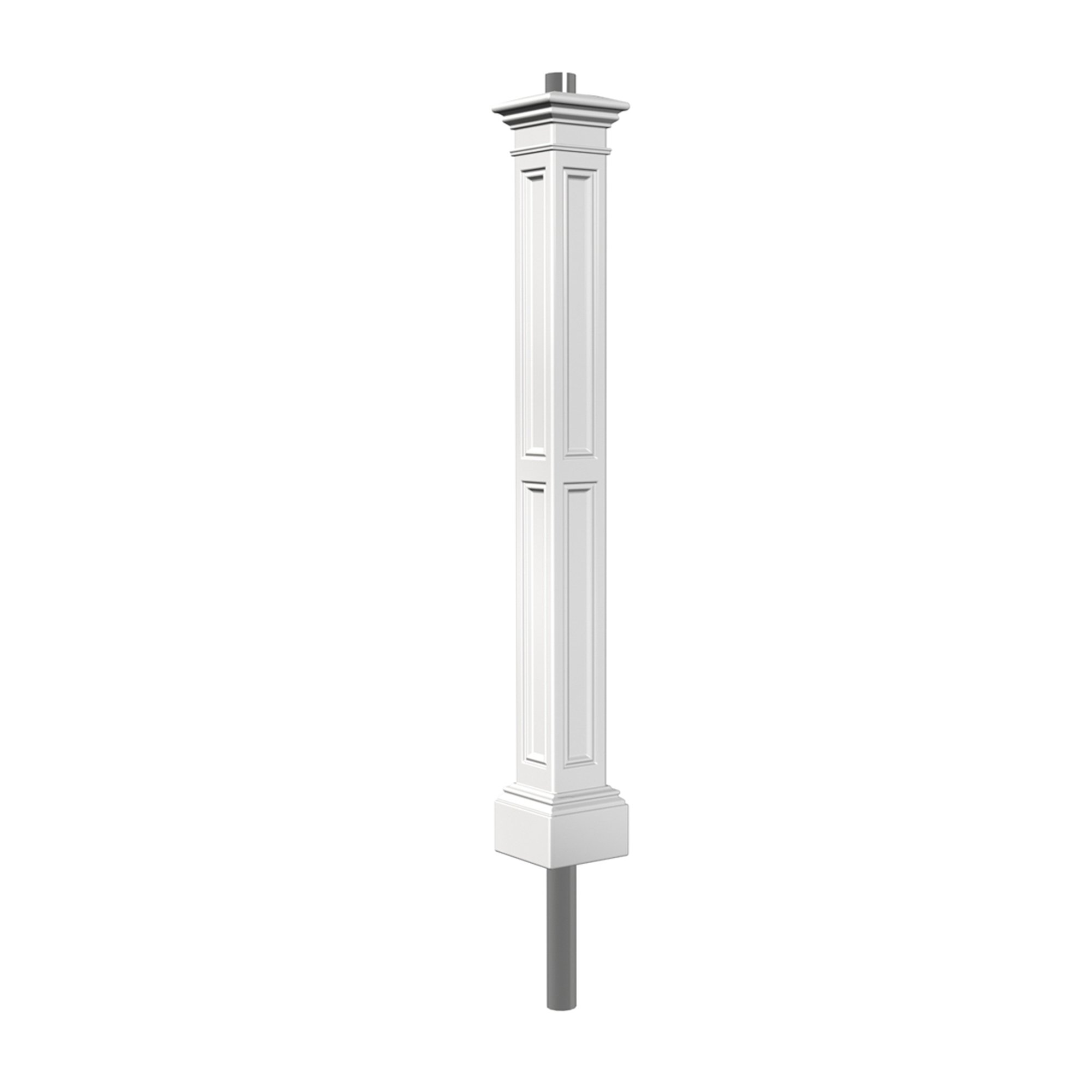 Mayne 5836-WH Liberty Lamp Post with 89-Inch Aluminum Ground Mount, White