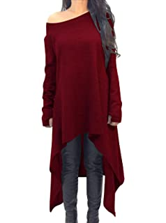 Zanzea Maille Tunique Fine Robe Femme Pull Oversize Hiver Longue En FBrFPn6