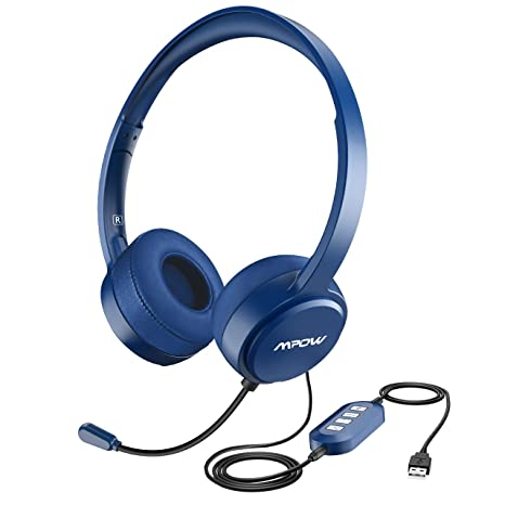 84fe09ef3db Mpow 071 USB Headset/3.5mm Computer Headset with Microphone Noise  Cancelling, Lightweight PC