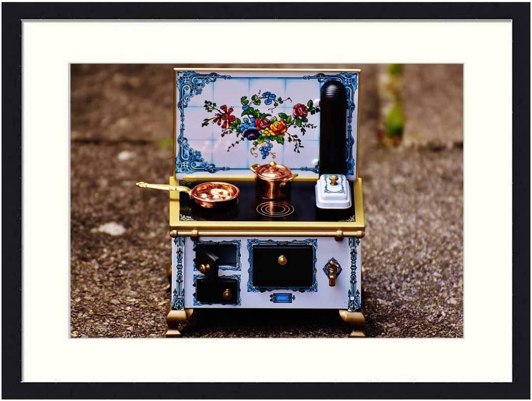 OiArt Art Print Wall Picture (20x14 inch) - Stove Oven Sheet Dolls Houses Dolls Furniture Heat 1
