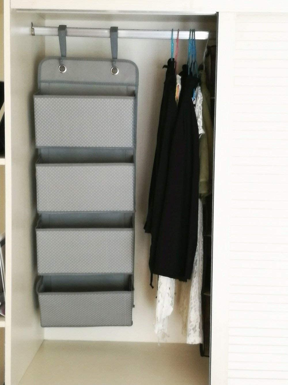 Darkblue Bluedream Hanging Storage Organizer Wall Mount Over Door 4 Pocket Organizer for Child//Kids Room or Nursery