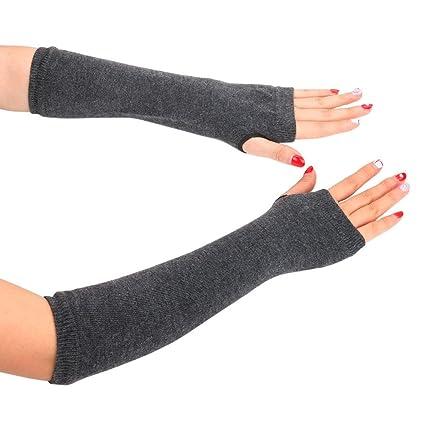 Fashion Women Winter Wrist Arm Hand Warmer Knitted Long Fingerless Gloves Mitten